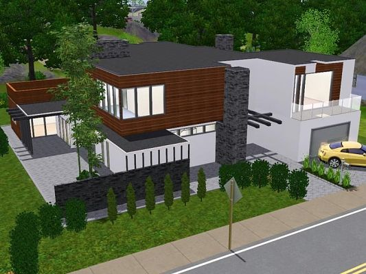Sims 3 Updates Sims 3 Modern Houses Calanque lot available at