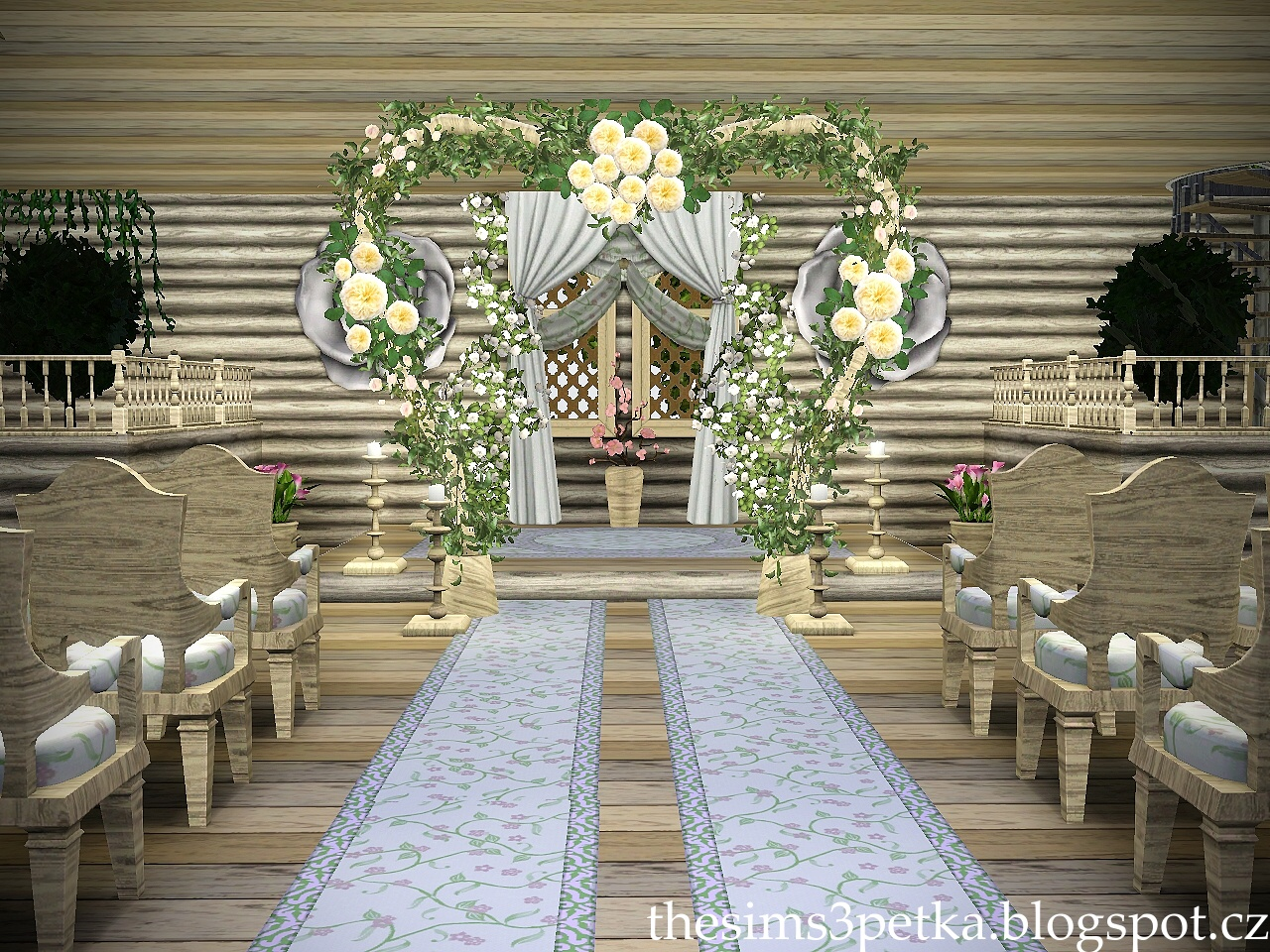 Sims 3 Updates Petka Sims3 Mariage De Reva Church Wedding By Petka