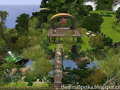 Sims 3 park, lot, community, objects