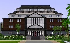 Sims 3 lot, community, hall