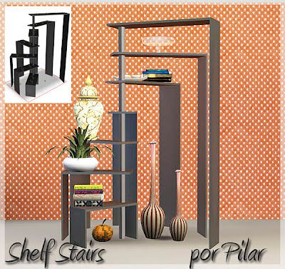 Sims 3 furniture, shelfs, stairs