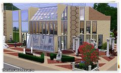Sims 3 lot, building, museum, community