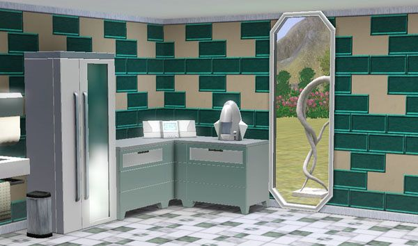 Sims 3 wall, pattern, set, future