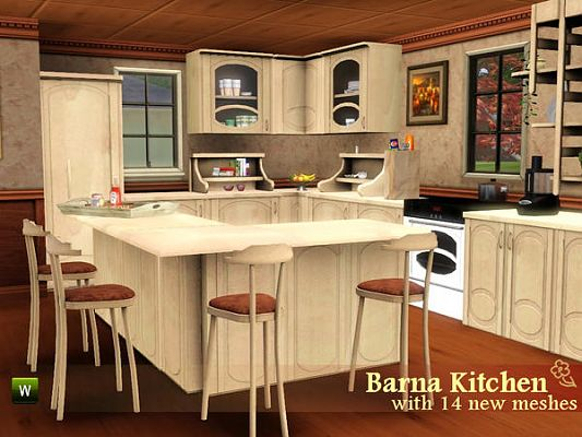 Sims 3 kitchen, furniture, set, decor