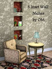 Sims 3 niches, wall, build