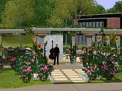 Sims 3 lot, community, wedding, lounge