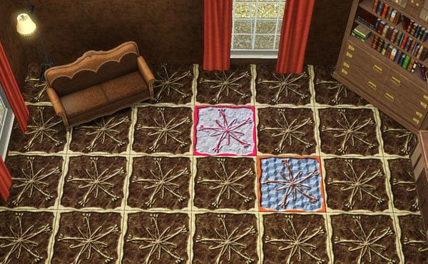 Sims 3 floor, visual, pattern