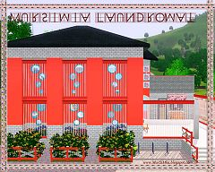 Sims 3 lot, community, laundry