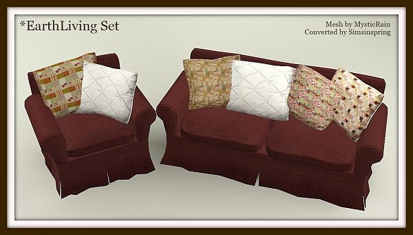 Sims 3 living, livingroom, set, sofa, furniture
