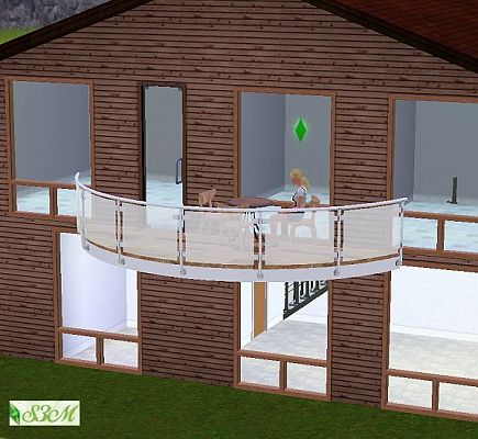 Sims 3 build, set, construction, balcony