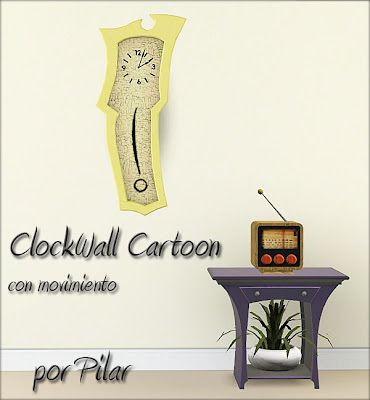 Sims 3 clock, wall, decor, object