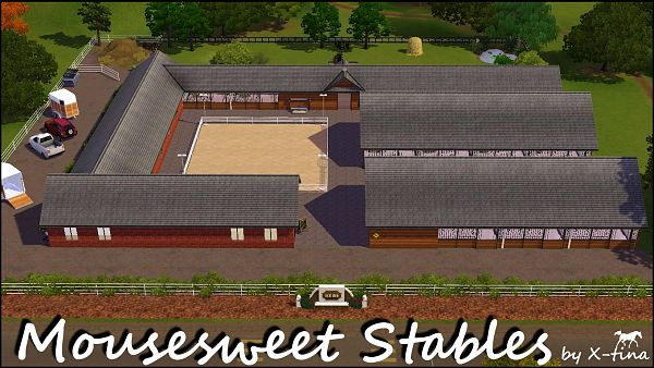 Sims 3 lot, residential, equestian, riding, school
