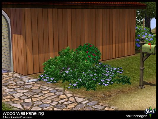 Sims 3 wall, texture, wood, panel