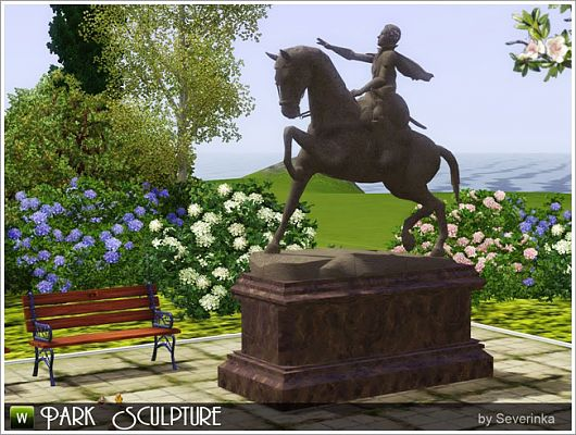 Sims 3 decor, decoration, sculptures, statue