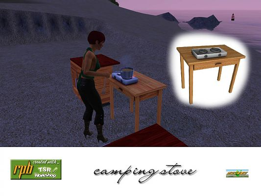 Sims 3 stove, camp, objects