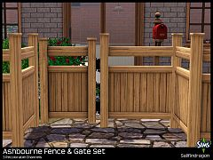 Sims 3 fence, gate, build, sims 3