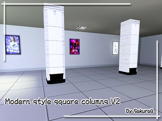 Modern Columns sims 3 updates - the sims resource: modern style square columns v2