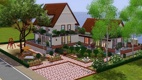 Sims 3 house, lot, residential, villa