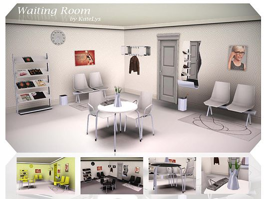 Sims 3 wainting, room, furniture, objects, decor