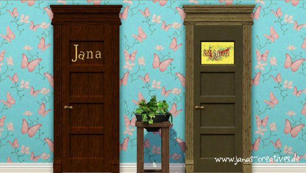 Sims 3 door, name, build