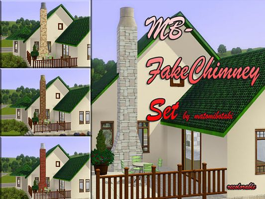 Sims 3 columns, chimney, build, set