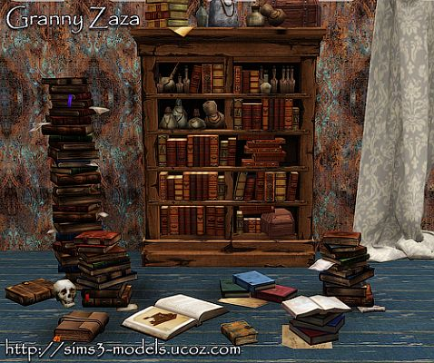 Sims 3 decor, decoration, objects, books