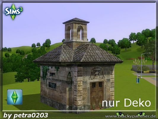 Sims 3 decor, objets, outdoor, mausoleum