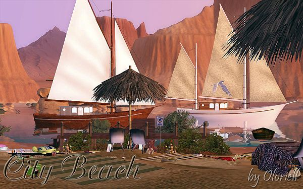 Sims 3 lot, community, beech
