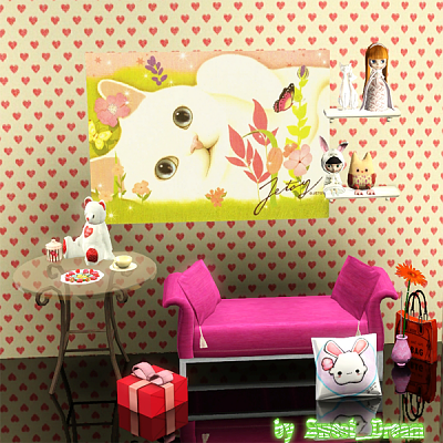 Sims 3 paint, paintings, decor, objects