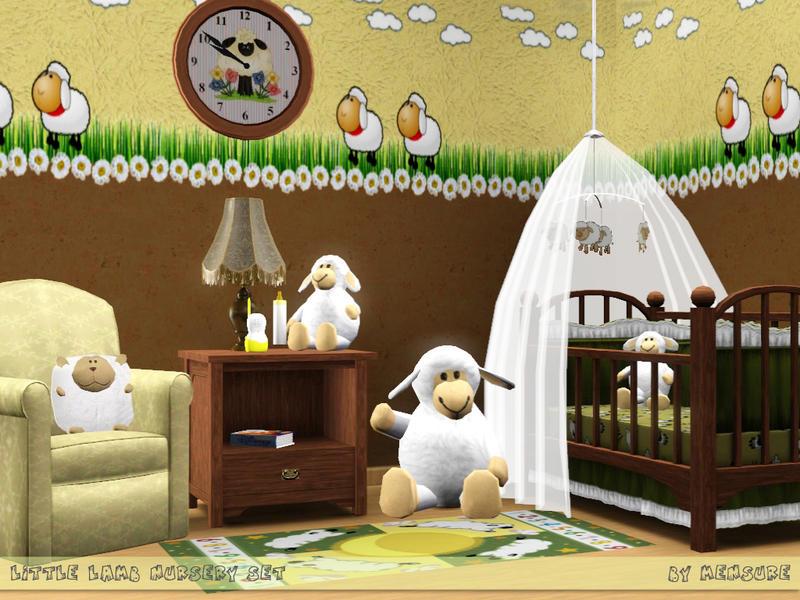 Room nursery mussa sims3 15 aug 2012 11 kidsbedroom mammut by mussa