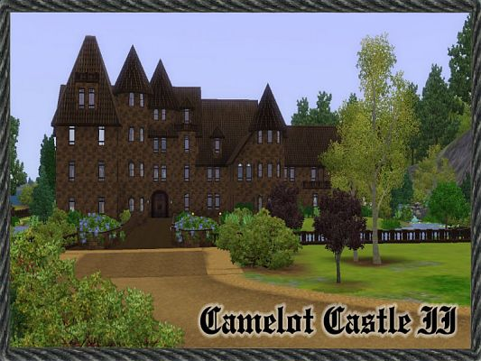 Sims 3 house, lot, residential, castle
