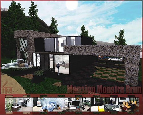Sims 3 house, lot, residential, villa, mansion