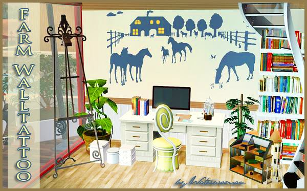 Sims 3 wall, decor, decoration, wall, stencils
