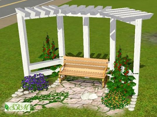 Sims 3 object, outdoor, pergola