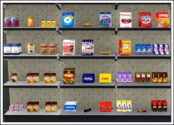 Sims 3 objects, decor, candy, bakery