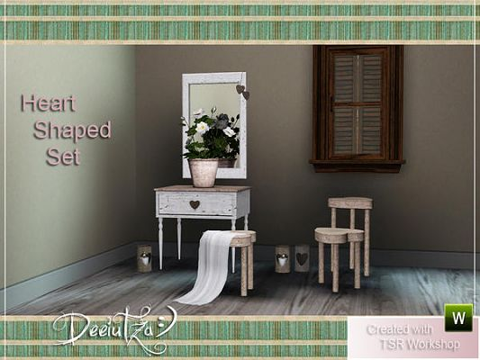 Sims 3 furniture, set, hall, heart