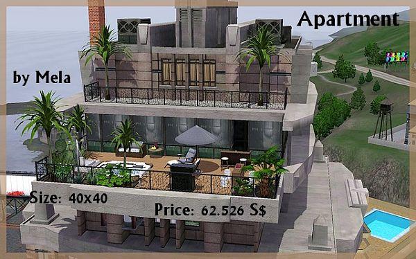 Sims 3 apartment lot apartment decorating ideas for Apartment design sims 3