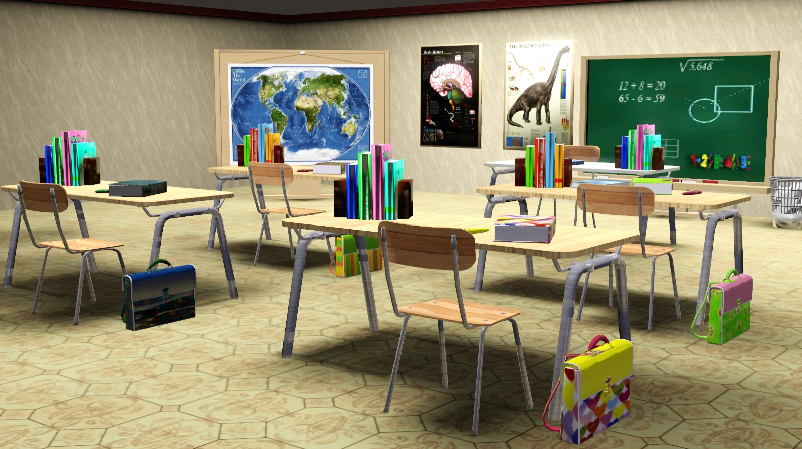 Sims 3 school desk pictures to pin on pinterest pinsdaddy for Furniture 4 schools