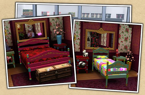 Sims 3 Bed, Bedroom, Furniture, Gypsy
