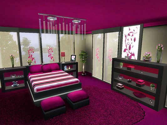 Sims 3 bedroom sets for Sims 3 bedroom designs