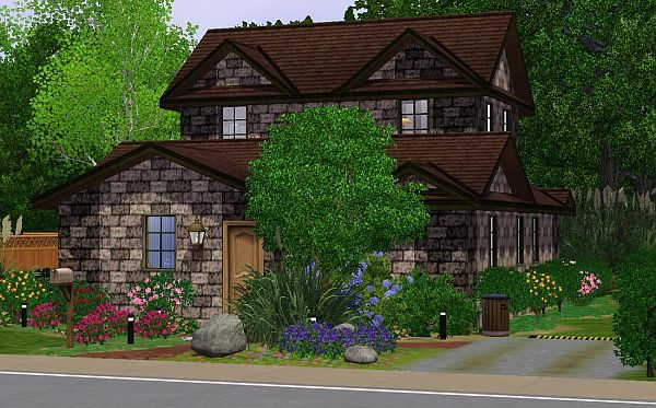 Sims 3 residential, lot, house