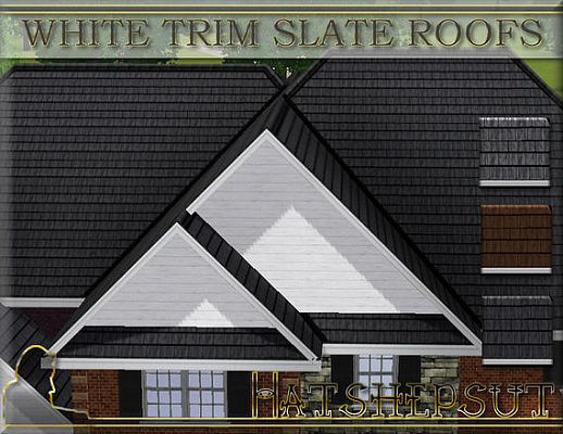 Sims 3 roof, white, build, roofs, arhitecture