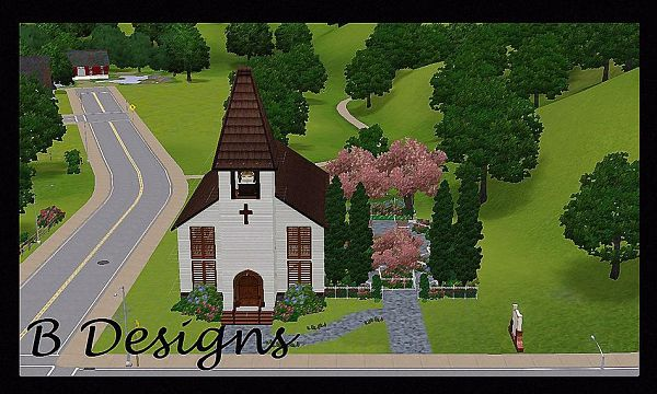Sims 3 chapel, church, lot, community, build