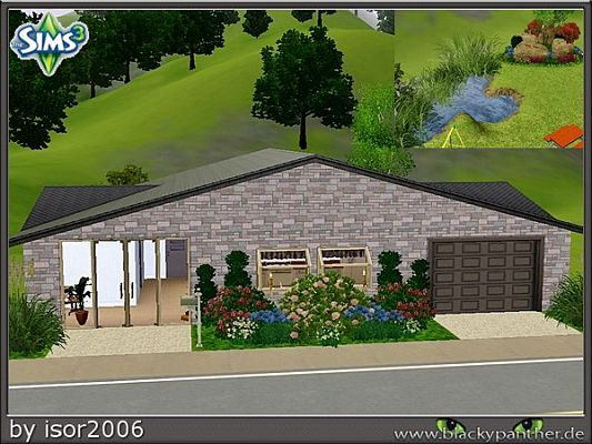 Sims 3 house, residential, buildings, lot, plot