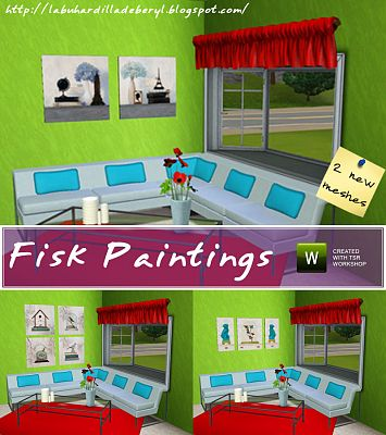 Sims 3 paintings, decor, objects