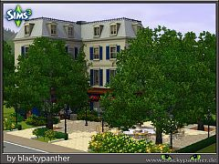 Sims 3 bistro, lot, community