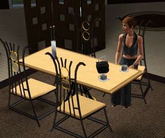 Sims 3 dining, furniture, table, chair