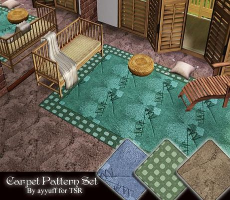 Sims 3 carpet, patterns, objects