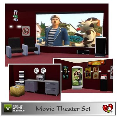 Sims 3 theater, cinema, objects
