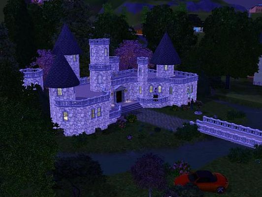 Sims 3 fantasy, castle, residential